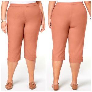 Alfred Dunner Peach Pull On Capri Pants Plus 20W